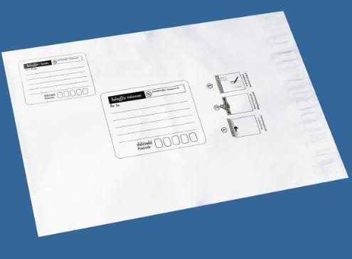 Plastic postal envelope